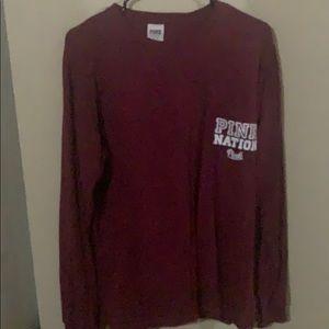 Spirit jersey style maroon VS Pink shirt